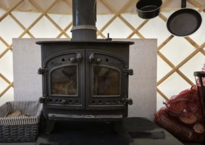 Yurt Fireplace